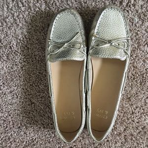 Gold Loafers Flats